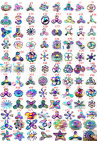 Wholesale Wholesale Metals - 350Modles Fidget Spinner Rainbow metal Hand Spinner Hexagon Fashion EDC kids Toys Professional and captain america ironman finger spinners