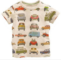 Wholesale New Arrival Boys Shorts - BST15 NEW ARRIVAL Little Maven Boys Kids Cotton Short Sleeve car print T shirt boys causal summer t shirt Free Ship