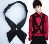 Wholesale girls bowties for sale - Group buy Crossover bowties colors Solid Color Cross bow tie for boy girl neckties Christmas Gift Free FedEx TNT
