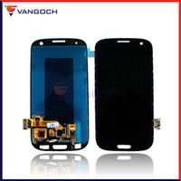 ingrosso samsung s3 lcd t999-Per Samsung Galaxy s3 i9300 T999 i747 i535 i9305 LCD Touch Screen Digitizer Assembly senza sostituzione telaio riparazione