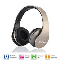 Wholesale Digital Stereo Headphones - Best Selling Andoer Wireless Headphones Digital Stereo Bluetooth 3.0 EDR Headset Card MP3 player Earphone FM Radio Music for all