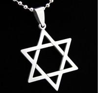Wholesale Wholesale Star David - Fashion necklaces David of Star Pendant 316L Stainless Steel necklace pendant Drop Charm women men jewelry