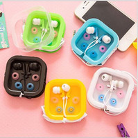 Wholesale Colorful Earphone Iphone Headphone Volume - For iphone and Samsung Earphone in-ear and volume control 3.5mm Headsets In Ear Earbuds Headphones for iphone 6 6s plus colorful with box