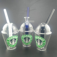 Wholesale Fine Pipes - New Starbuck Glass water pipes Bongs 8 Inches Small Bong 14mm Joint Cup Shape Glass Water Pipes Fine Workmanship 3 colors available