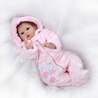 Wholesale Toy Babe - 55cm Reborn Doll Silicone Reborn Handmade Realistic Baby Girls Dolls 22 Inch Vinyl Bebe Winter Clothes Reborn Babe Toys Boencas