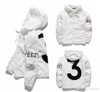 Wholesale Mens Coats Xl Usa - 2018 YEEZUS Jacket Men KANYE WEST Hip Hop Windbreaker MA1 Pilot Mens Jackets Tour Jaqueta Masculina Season 3 Coat USA size