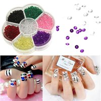 Новое прибытие 1 колесо 4,5 мм Nail Art Crystal Rhinestones Micro Diamonds Acrylic Mini 3D Nail Decoration