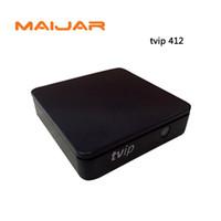 Wholesale Pocket Listings - 50pcs Pocket Strong IPTV BOX TVIP412 Linux Or Android Double System Quad Core TVIP Box Support M3U List H.265 TVIP 410 Plus