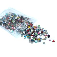 Wholesale 1440PCS SS16 MM Multicolor jelly resin flatback rhinestones Nail Art stick drill