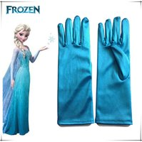Wholesale Long Gloves For Sale - Hot Sales Frozen Anime Figure Girls Long Gloves Free DHL children Elsa Anna Princess sets Wedding Silk Gloves Gifts for kids