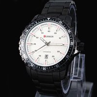 Wholesale mens stainless dive watches online - 2016 New Relogio Masculino HOT MEN Stylish Curren Date Japan Movt Steel Wrist Watch new dive Stainless Watch Sport style military Mens watch