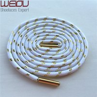 Wholesale hotel matches - Weiou Sports colored boot laces fashion metallic gold shoelaces white round shoelaces all match trainer laces