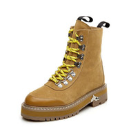 Wholesale Thick British Women - 2017 New Women Buckle Winter Motorcycle Martin Boots British Style Gothic Punk Thick Warm Black Shoe Free Shipping Plus Size