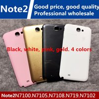 Wholesale Note2 Batteries - New good quality Samsung note2 battery cover N7100 phone back cover n7100 battery case n719 back cover n7100 the box