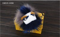 Wholesale Grass Ornaments - Good Quality fur monster fur fashion little monster bag pendant car key ring raccoon fur grass ball ornaments car keychain accessories