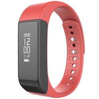 ingrosso i braccialetti seguono i passaggi-I5 Plus Bluetooth Smart Sport Bracciale Wireless Fitness Pedometro Activity Tracker con passi Counter Monitoraggio del sonno