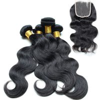 Wholesale Goddess Human Hair - Maylasian body wave hair with Closure 4bundle great lengths hair extensions 100% Unprocessed Human Virgin Hair goddess hair weave wholesale