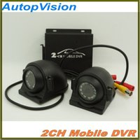 Mini Security CCTV 2channel DVR Realtime SD 128GB Card Recording Mobile Bus Veículo Truck Car DVR Recorder System 2ch Audio