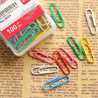 Wholesale Colored Paper Clips Pieces metal clips memo clip bookmarks file organizer stationery office school supplies