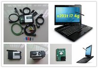 Wholesale Diagnostic Car Mercedes - for mercedes cars and trucks diagnostic scanner mb star c5 with software xentry das in hdd with laptop x201t i7 4g touch screen