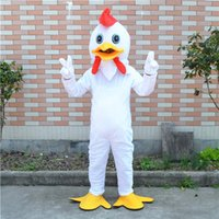 costume costumes frango venda por atacado-2016 branco frango traje da mascote personalizado personagem de desenho animado cosply tamanho adulto carnaval traje de natal e festa de halloween fancy dress