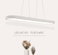 yeni modern tavan aydınlatma kolye toptan satış-Yeni Yaratıcı modern LED kolye ışıkları Mutfak akrilik + metal süspansiyon asılı tavan lambası yemek odası lamparas colgantes