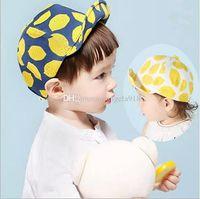 Wholesale Peak Baby - New fashion Lemon printing caps children Baseball hat flat hip-hop baby Lemon peaked cap free shipping C1002