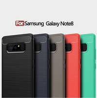 Wholesale Design Note Case - For Samsung Galaxy Note 8 Case Note8 Carbon Fiber Design Soft TPU Back Phone Cases, 5 Color