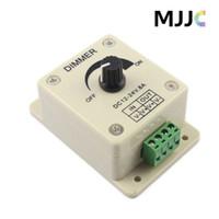 weißes geführtes streifenlichtdimmer großhandel-12 V 8A 96 Watt Einfarbiger Knopf LED Dimmer Controller für 3528 5050 5630 3014 Warme Kühle Weiße Led-streifen Lichter