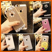 Wholesale 3d Diamond Crystal Hard Case - Rhinestone cases iPhone 7 5 5s SE 6 6S Plus Luxury 3D Bling Glitter Crystal Diamond Hard Case Cover