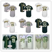 Wholesale Athletic Top Men - Men's Oakland Athletics jersey 24 Ricky Henderson #33 Jose Canseco 54 Sonny Gray home away Stitched Baseball Jerseys Top quality