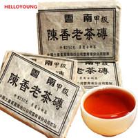 ingrosso cibo di mattoni-250g cinese Puer Tea Pu Er Ripe Pu-erh Compresso Pu'er Brick Puerh Tè nero cibo sano Cibo verde cotto Pu erh Tè rosso