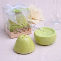 Wholesale Perfect Party Favors - FREE SHIPPING 100PCS(50sets) The Perfect Pair Salt & Pepper Wedding Favors Bridal Shower Ceramic Favors Party Table Setting Gifts