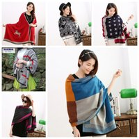 Wholesale Cheap Pashmina Scarves Shawls - Wholesale 15 Colors Cheap Sale Women's Cashmere Scarves European Fashion Ladies Winter Shawl Soft And Warm Wrap Gift For Ladies Birthday