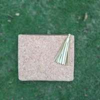Wholesale cork material for sale - Group buy Cork Tassel Cosmetic Bag Wholsesale Blanks Cosmetic with Cork Material Tassel Puller Make Up Bag Accessories Bag DOM106404