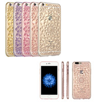 Wholesale iphone plus skin cases for sale - Group buy For iPhone xs Plus Clear Transparent Skin creative relief TPU for iphone case TPU sunflower Case with opp package