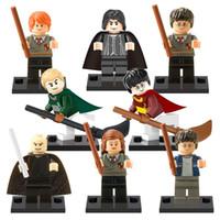 Wholesale Harry Potter Gifts - 2017 new 8pcs lot Harry Potter Building Blocks Hermione Granger Fantasy Literature Novels kids Gift Toys for children bricks X0121