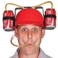 Wholesale Novelty Drinking Helmet Beer Hat Drink Drinking Holder Soda Party Stag Do Game Adult Toy