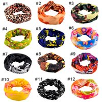 Wholesale Cream Headbands - Riding Bicycle Motorcycle Headscarf Variety Turban Novelty Bandanas Magic Headband Headband Multi Head Scarf Scarve 2503067