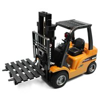 Wholesale Crane Electric - Wholesale- HUINA 1577 2-in-1 RC Forklift Truck   Crane RTR 2.4GHz 8CH   360 Degree Rotation   Auto Demonstration