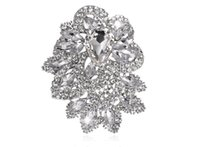Wholesale Diamond Bouquet Pins - Free postage 2016 new large size high-end luxury fashion atmosphere full of diamond brooch pin brooch bouquets manufacturers retail