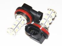 Wholesale Head Lamp Xenon - Hot Sales New 2x H11 18 LED 5050 SMD Car Day Fog Head light Lamp Bulb Xenon White Yellow Red