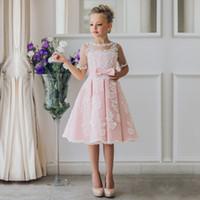 vintage tea length flower girl dresses