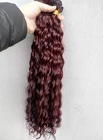 Wholesale Chinese Wholesale Beauty Products - chinese Curly Hair Weaves Queen Hair Products 99j Human Hair Extensions 2bundles One lot Beauty Weft