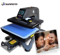 ST-420 Sunmeta Auto-pneumatique 3D Sublimation Presse Machine, le plus récent T-shirt impression presse à chaleur machine 26 * 38cm, 220V