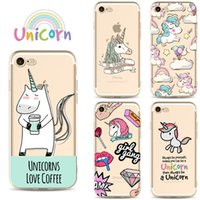 Cute Cartoon Unicorn TPU pittura cassa del telefono cellulare per iPhone X 6 7 8 Plus Ultra sottile in silicone trasparente Shell Cover posteriore