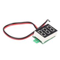dc dijital amper göstergesi toptan satış-Mini LCD dijital voltmetre ampermetre voltimetro DC 2.5-30 V 1 adet Kırmızı LED Amp amperimetro Volt Metre Ölçer gerilim Metre DC