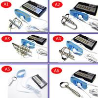 Wholesale Electro Massager Vibrators - DIY Electric Urethral Sound Massager Pulse Stimulate Electro Shock Urethral Catheter Penis Plug Dilator Sex Toys For Men A243-A1