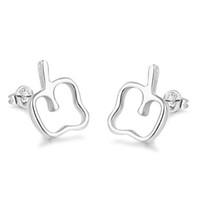 apfel ohrringe großhandel-10 Stück Factory Outlet Sterling Silber Schmuck Apple Charm Ohrringe Weihnachten Charme besonderes Geschenk für Mädchen
