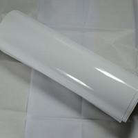 vinilo sin burbujas blanco al por mayor-1.52X15M 3D RHOS burbujas libres de aire blanco brillante vinilo envoltura de película pegatinas de coches piezas de bricolaje pegatinas de protección del molde
